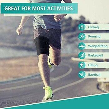 1 Pair Sweat Absorb Protective Sauna Leg Shaper Slender Neoprene Sports Training Running Fitness Compress Belt Slimming