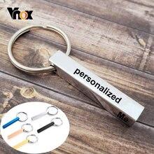 Персонализированные брелки для ключей vnox мужчин и женщин сделанные