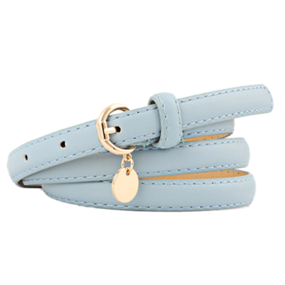 Womail 2019 Fashion Elegant Women Belt Thin Leather Belt Female High Quality Buckle  Pure Color Leather Belts Waistband