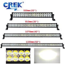 CREK 22 32 42 52 Inch Straight Offroad LED Work Light Bar SUV ATV Truck LED Bar For 4WD 4x4 ATV SUV Offroad Truck Tractor