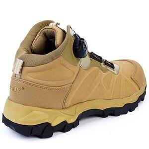 Image 5 - Мужские армейские ботильоны BOA, коричневые Тактические Военные боевые ботинки, дышащая обувь для быстрого реакции, безопасная альпинистская обувь