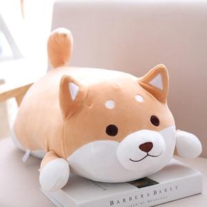 Image 3 - Poupée en peluche chien Shiba Inu 35/55cm gros chien, Kawaii, poupée de chiot, dessin animé, oreiller, jouet, cadeau pour enfants