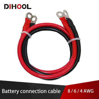 8/6/4 AWG Battery Connection Cable,High Current Copper Wire with Lug,Car Inverter Wire,UPS,Battery Series and Parallel Connect - discount item  20% OFF Electrical Equipment & Supplies
