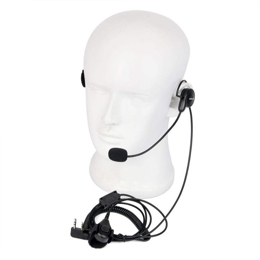 New Retevis 2 Pin Earpiece Mic Finger PTT Headset For Kenwood Retevis BAOFENG H-777/RT-5R/ 888s/UV5R Two Way Radio
