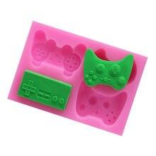 Diy teclado molde de silicone controlador gamepad jogo molde bolo ferramenta de decoração fondant chocolate argila artesanato resina molde
