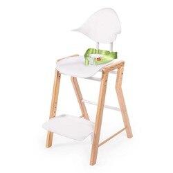 الكراسي العالية سعيد الطفل ECOLUX كرسي مرتفع للأطفال تغذية للبنين والبنات للطفل الجدول الوليد الخشب الأبيض