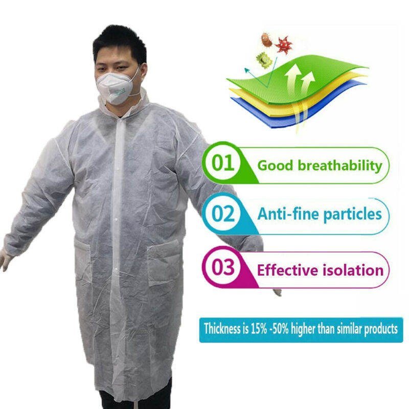 Adult Disposable Washable Hazmat Suit Protective Suit Virus Protection Clothing Safety Coverall Plus Size Cleanroom Garments