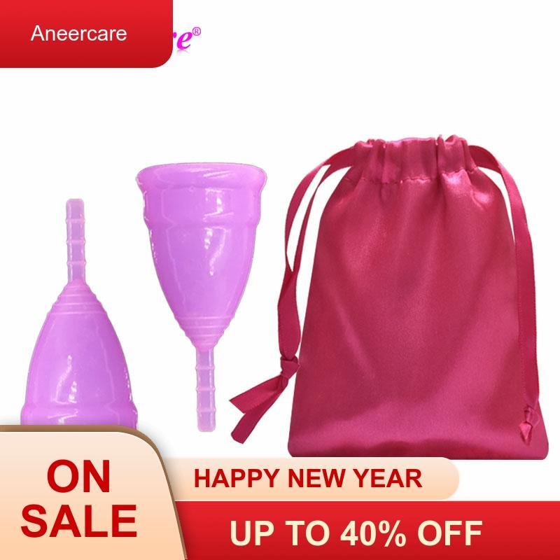 50pcs Copa Menstrual Lady Cup Medical Grade Silicone Menstrual Cup Feminine Hygiene Menstruation Cup Soft  Coupe Menstruelle