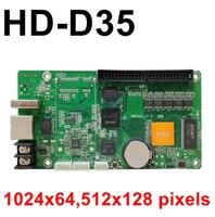 Huidu D35 HD-D35 assíncrona pixel rgb controlo total da cor 1024*64 u-disk portcard Trabalhar com P3 P4 p5 P6 P7.62 exibição lintel