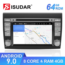 Isudar 2 Din Auto Radio Android 9 For Fiat/Bravo 2007-2012 Car GPS Stereo Multimedia Player Octa Core RAM 4GB ROM 64GB DSP DVR dsp 4gb ram 32g rom 2din android 9 0 octa core car radio multimedia video player universal head unit gps mirror link 1080p obd 2