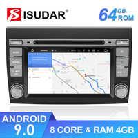 Isudar 2 Din Auto Radio Android 9 para Fiat Bravo 2007-2012 coche GPS estéreo reproductor Multimedia Octa core RAM 4GB ROM 64GB DSP DVR