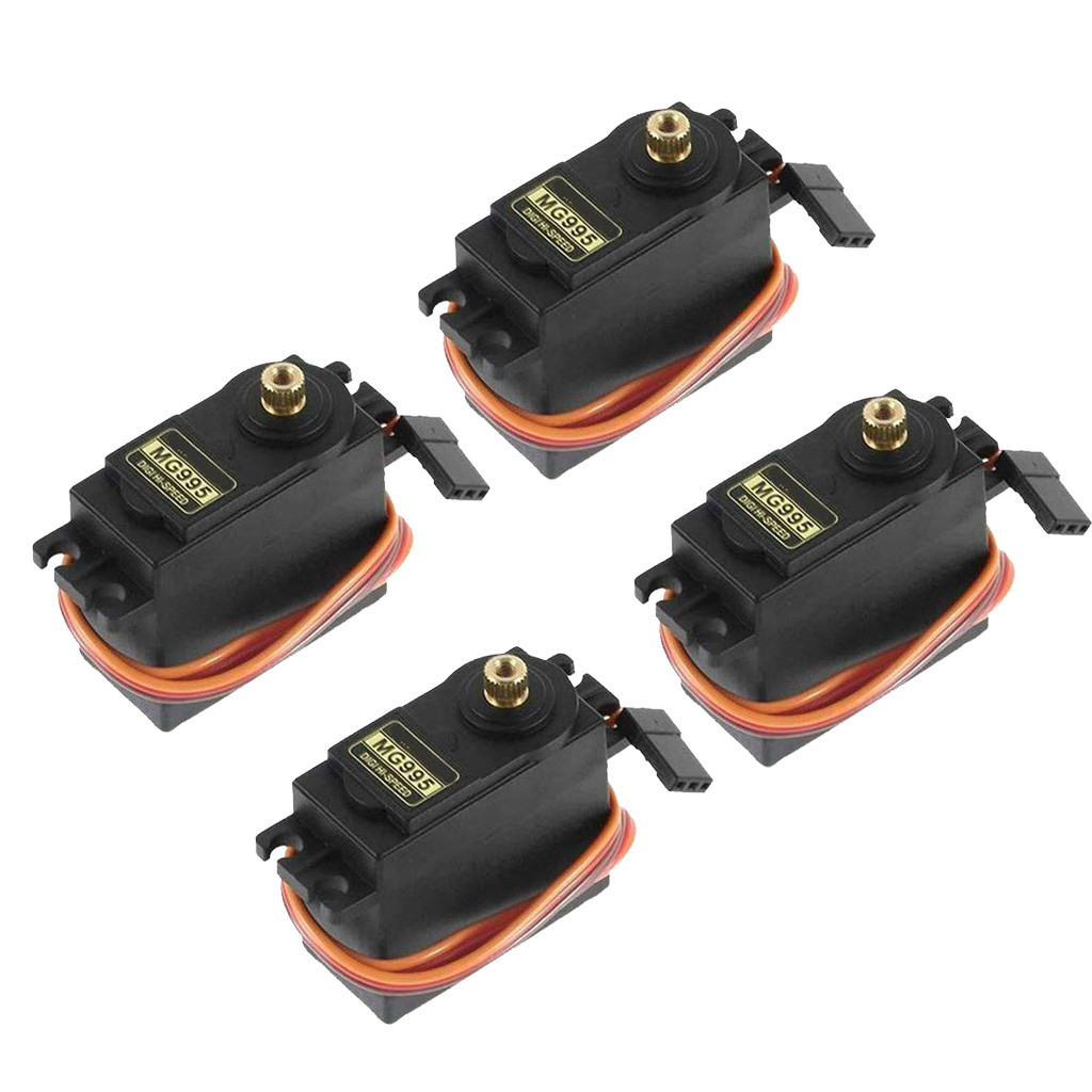 4Pcs MG995 180° High Torque Metal Gear RC Servo Motor For Boat Helicopter Car Set Kids Toys Juguetes Brinquedos игрушки New