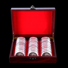 30pcs 21.5*18*6.5cm Round Wood Box Coins Holders Storage Container Case Wooden Display Collection Wood+Plastic