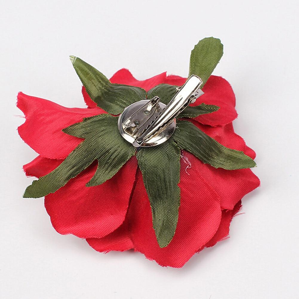 1Pcs Rose Flower Hairpin Women Brooch Bridal Wedding Party Hair Clips Rose Artificial Flower Hair Accessories Girls Headwear