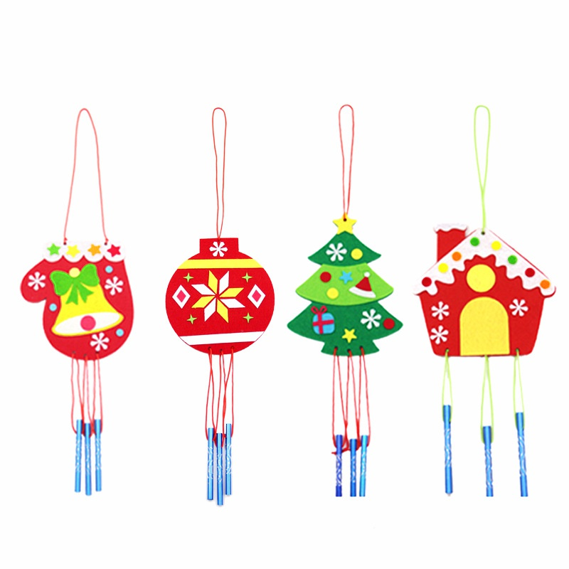 New Fashion Christmas Wind Chime Assorted Diy Wind Bell Tree Hanging Decoration Christmas Accessories Toys