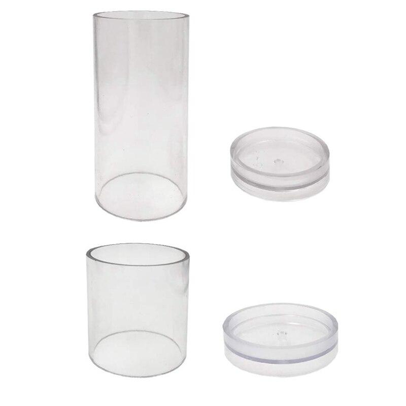 Bougie moules pour la fabrication de bougies pilier en plastique Kit de fabrication de bougies grand cylindre côtes bougie faisant des moules bougie à bricoler soi-même faisant Supplie