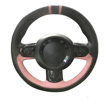 Hand Sewing by youself Genuine Leather Car Steering Wheel Cover for DIY for Mini Cooper R56 R55 R60 R61 R57