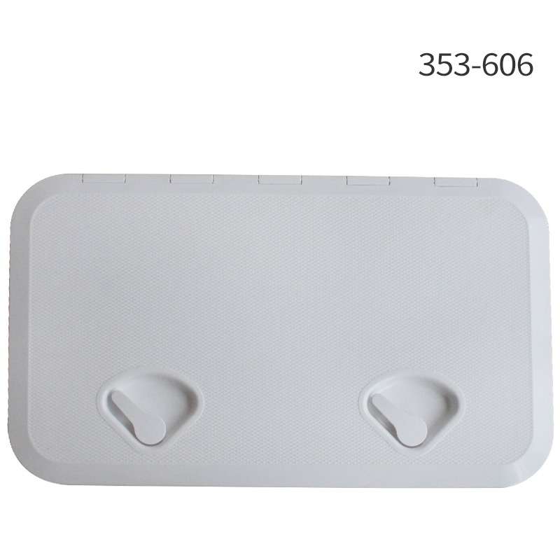 353*606mm ABS Plastic Anti Aging Ultraviolet White Deck Marine Hatch Deck Access Hatch Boat Hatches Inspection Yacht Cover