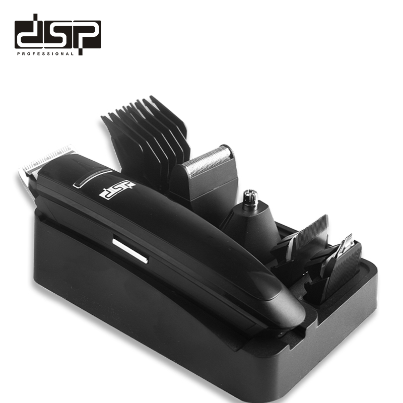 DSP 7 in 1 Hair Clipper Set Professional Household Rechargeable Hair Clipper Hair Shaped Hair Trimmer  100-240v 50-60Hz