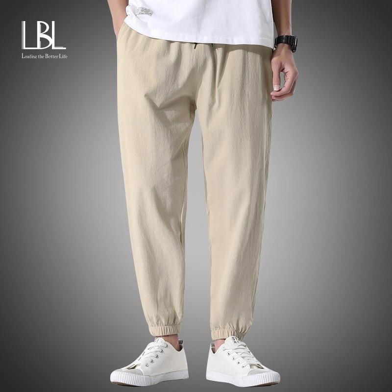 Gerade Hosen Männer der Mode Feste Elastische Taille Casual Hosen 2021 Männer Streetwear Lose Japanischen Baumwolle Hosen Mens Bottoms