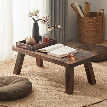 Solid wooden antique small coffee table bay window coffee table Japanese-style Tatami tea table simple home wooden furniture oriental antique furniture design japanese floor tea table small rectangle home living room wooden coffee tatami low table wood