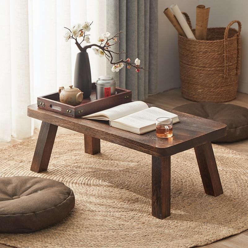 Solide holz antike kleine kaffee tisch bay fenster kaffee tisch Japanischen stil Tatami tee tisch einfache hause holz möbel
