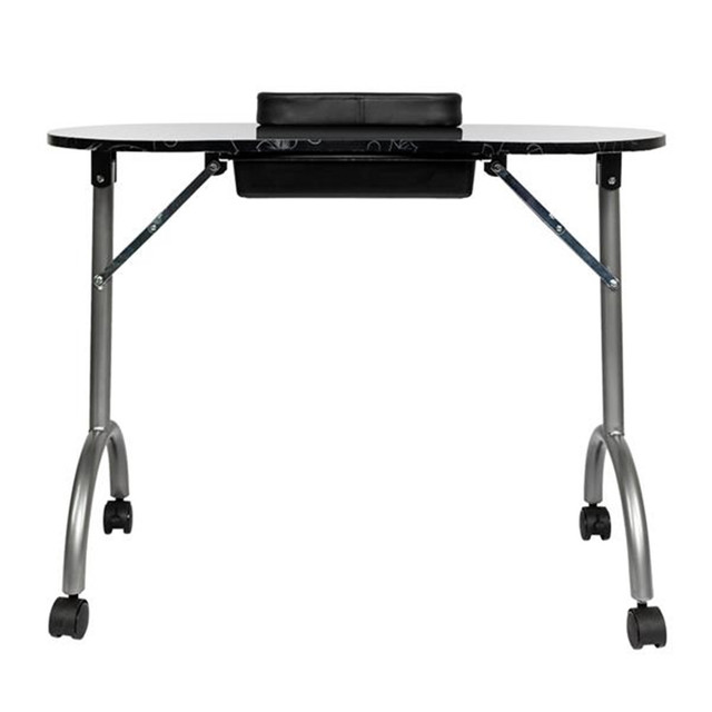 Portable MDF Manicure Table with Arm Rest & Drawer Salon Spa Nail Equipment White 1