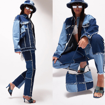 Ladies stitching jeans gradient color jeans ladies flared jeans ladies casual loose jeans high waist jeans hot women flaredpants jeans att jeans