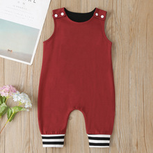 2020 Cotton Sleeveless Baby Clothes Girl Newborn Romper Summer Toddler Girls Jumpsuit Overalls ropa bebe ruffled flower baby rompers summer newborn baby costumes kids jumpsuit toddler baby girl romper ropa bebe clothes polo outfits