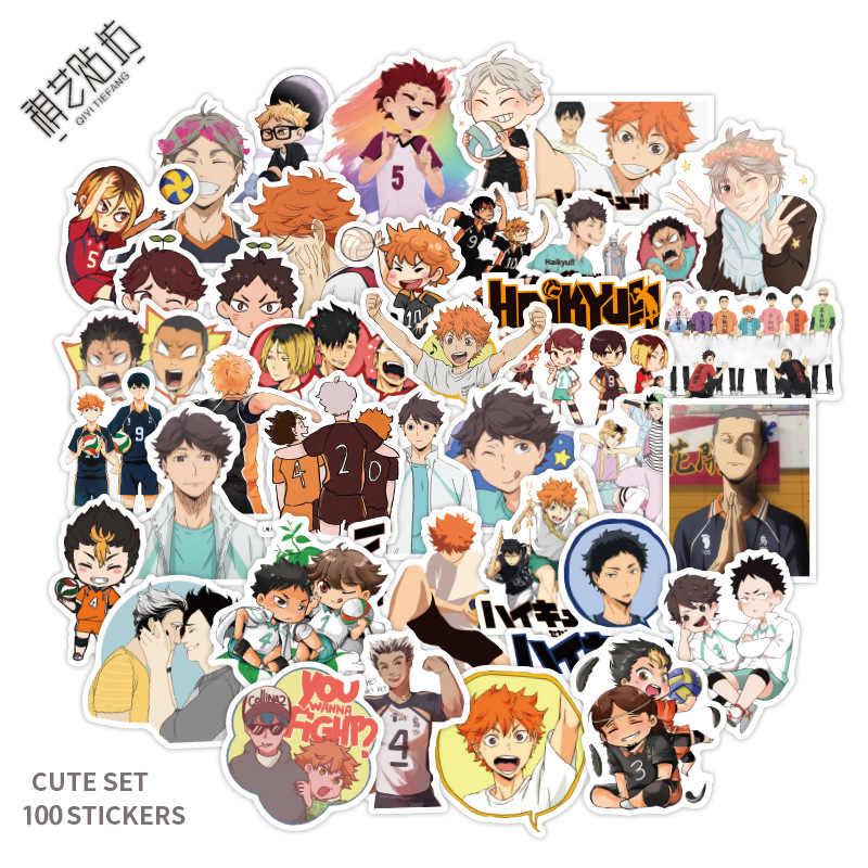 Willekeurige 50 Stks/set Japan Anime Cartoon Rekwisieten Haikyuu! Hinata Shoyo Kageyama Tobio Sticker