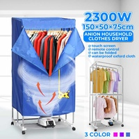 2300W Electric Cloth Dryer With Wheel Household Portable Remote Baby Cloth Shoes Boots Dryer Power Motor Drying Warm Laundry