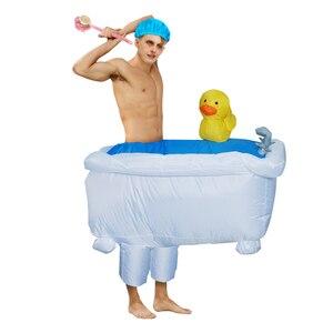Image 2 - Gorący Cosplay kaczka nadmuchiwany kostium jeździć na wannie wyjść z kąpielą pływanie piękne przebranie dla interesującego dorosłego mężczyzny