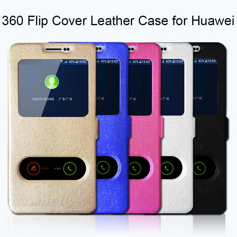 360 Full Cover Case for Huawei Y6 2018 Y3 ii Y5 Lite Original Leather Case for Huawei Y9 Y7 Pro 2019 Flip Case for Y7 Prime 2018