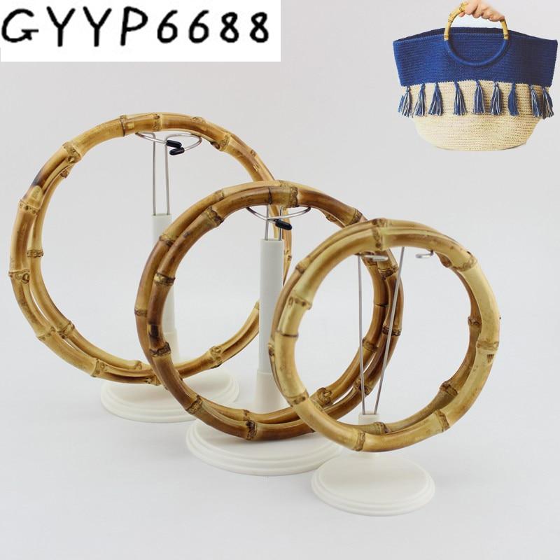 2pcs 30pcs High Quality Bamboo Purse Handle Frame Hanger Wholesale DIY Bamboo O Bag Handle Correas Para Bolsos Bamboo Bag Handle