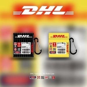 ¡Oferta! DHL Express con auriculares Bluetooth, funda cuadrada para Airpods Pro 2 3 1, funda con llavero para Air Pods 3 Airpodspro, funda para auriculares Etui