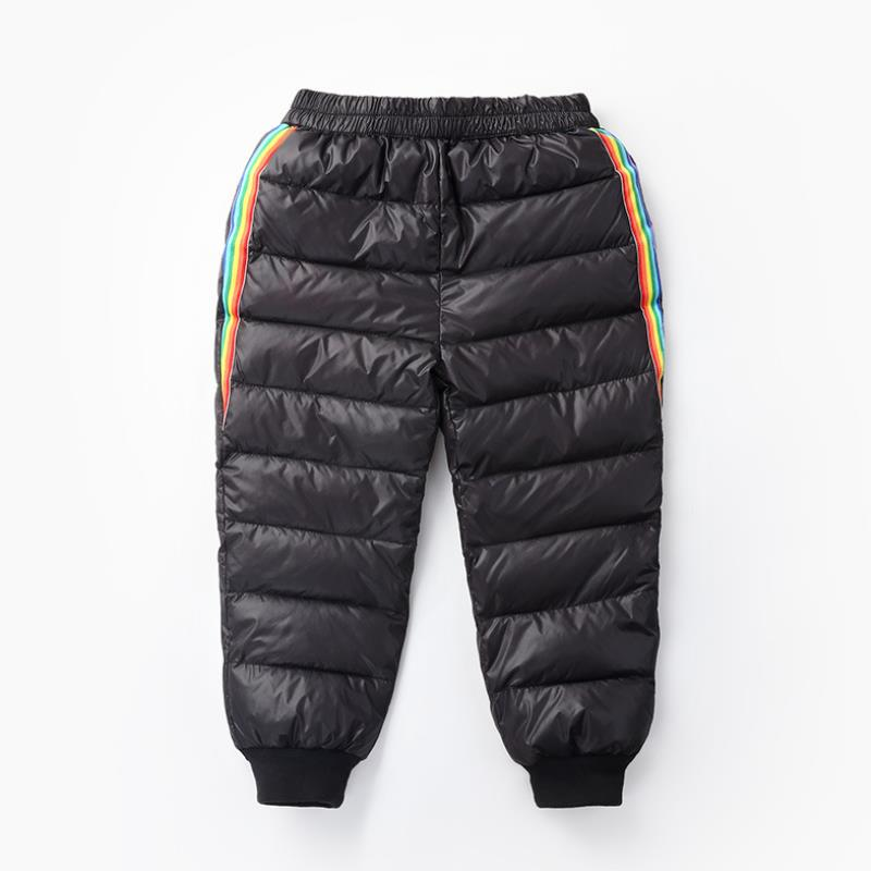 2020 New Boys and girls down cotton trousers 2-6 years old thick warm pants, baby winter trousers children's thick Sweatpants 3
