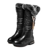 2019 Winter Kids Girls Boots Shoes Genuine Leather High Boots With Fur Tassel Quality Snowboots Kid'S Girl Boots Kinder Schoenen