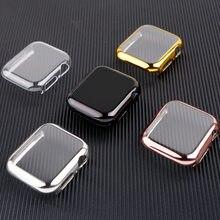 Capa para apple watch 5 caso 44mm/40mm iwatch 42mm 38mm 40 44mm all-around protetor de pára-choques apple assistir série 3 4 acessórios