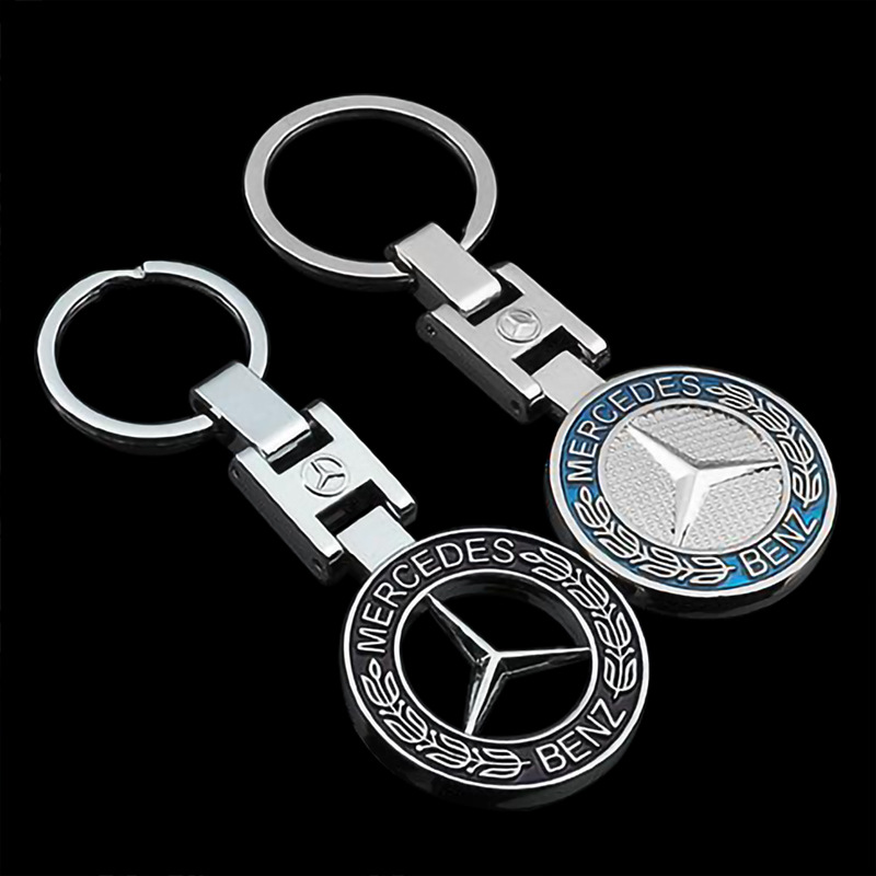 H Buckle Solid Hollow Mercedes-Benz Car Car With Metal Keychain Advertising Waist Key Ring