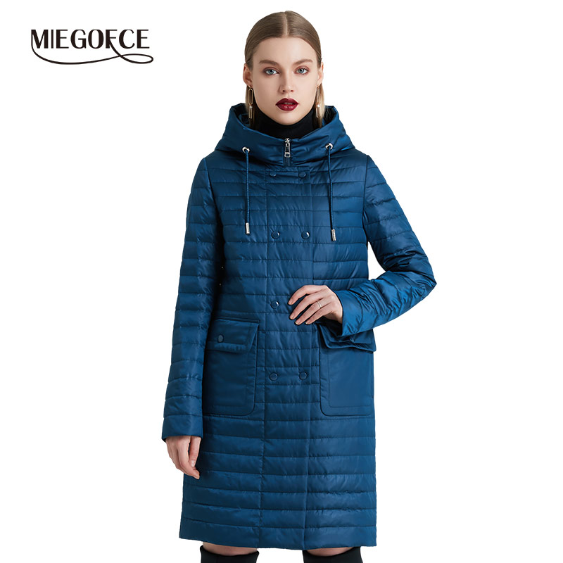 Miegofce 2019 primavera outono feminino casaco de moda feminina à prova de vento jaqueta com gola alta jaquetas femininas novo design de primavera