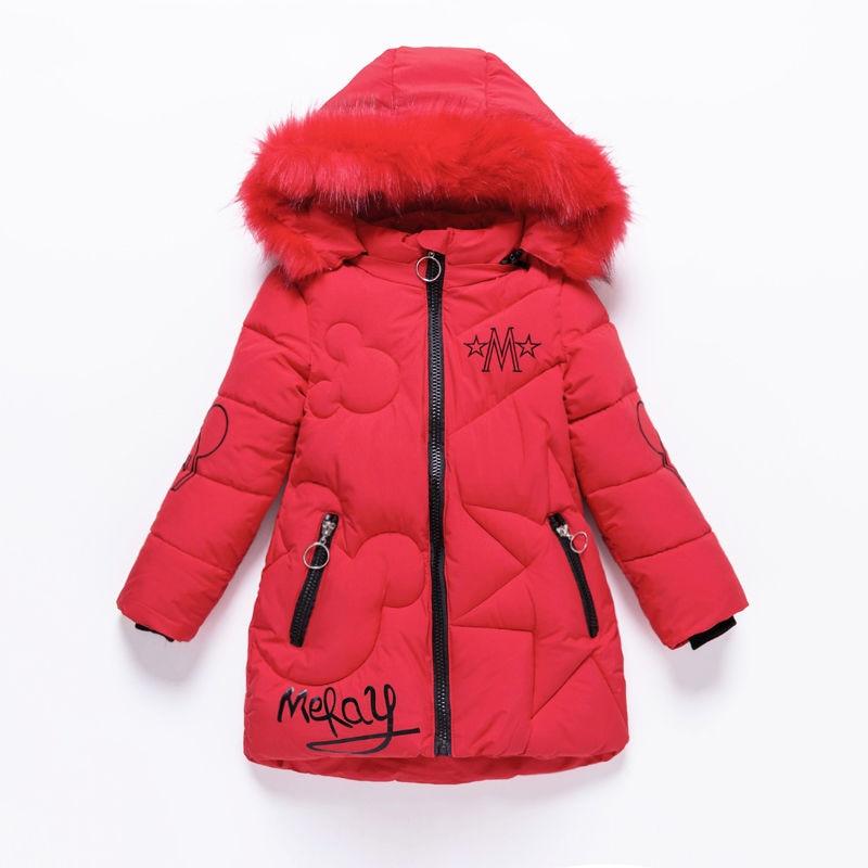 2019 Girls Down Jackets Baby Outdoor Warm Clothing Thick Coats Windproof Children's Winter Jackets Kids Cartoon Winter Outerwear