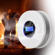 أول أكسيد الكربون الدخان كاشف الحريق الكهروضوئية الاستشعار مجمع الأمن إنذار أمن الوطن إنذار لاسلكي معدات الحريق