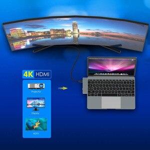 Image 2 - 유형 C to HDMI USB 허브 4K USB C Dock USB C 허브 USB C PD 100W TF SD USB 3.0 for iPad Pro 2020 xiaomi huawei PC Macbook Pro Air