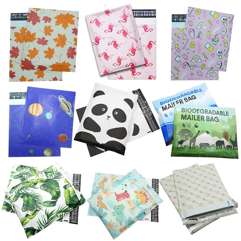Flamingo 10x13  Designer Poly Mailers Plastic Envelopes Shipping Bags