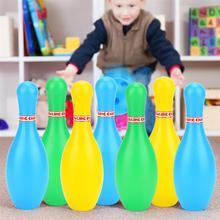 Набор для боулинга, спортивные игрушки для детей 18 см, развивающие игрушки, мячи и булавки, игрушки для боулинга, Пластиковые забавные игруш...