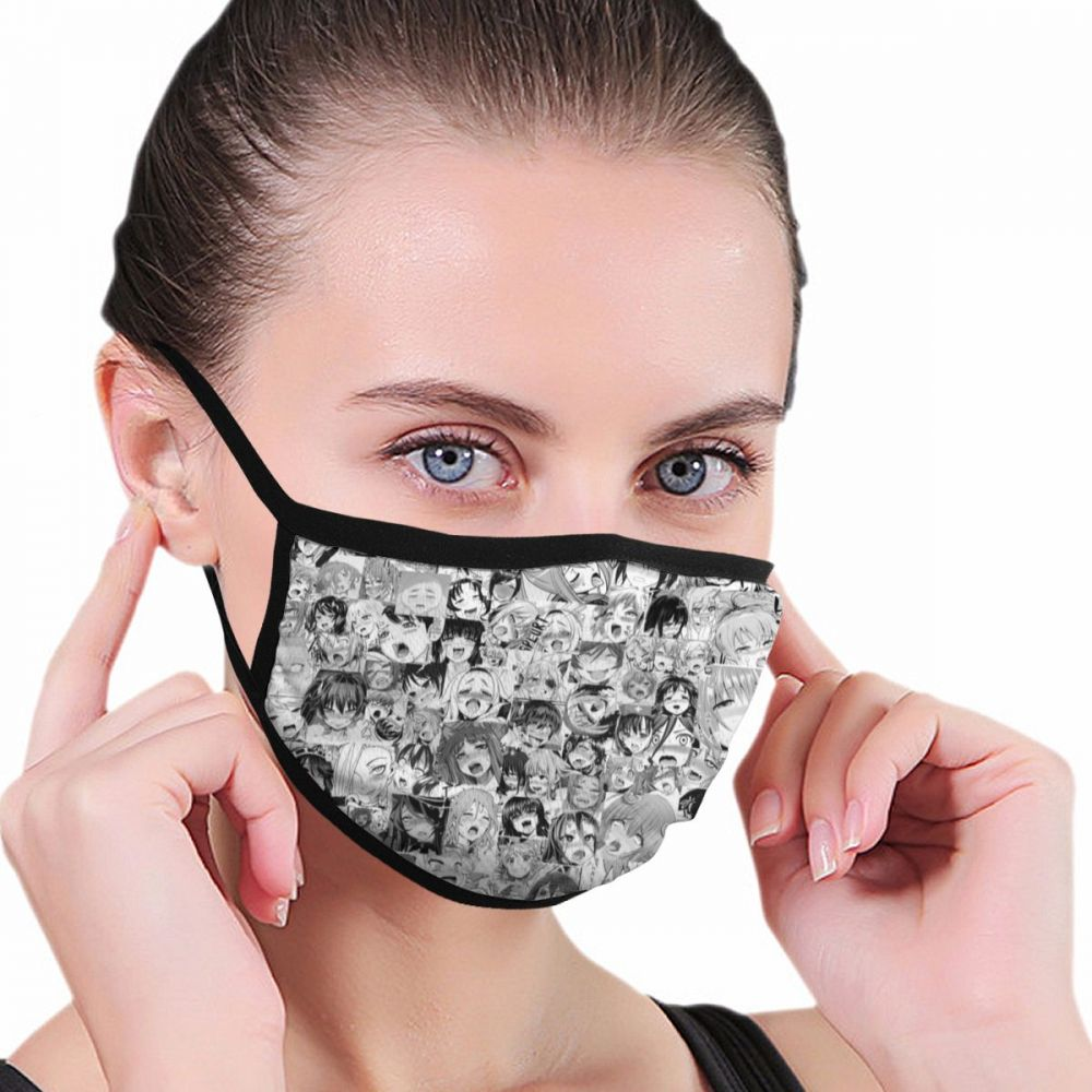 Japan Anime Ahegao Anti Dust Mask For Mouth Pm2.5 Dust Respirator Wholesale Breath Anti Odor Pollution Running Sports Mask Mouth