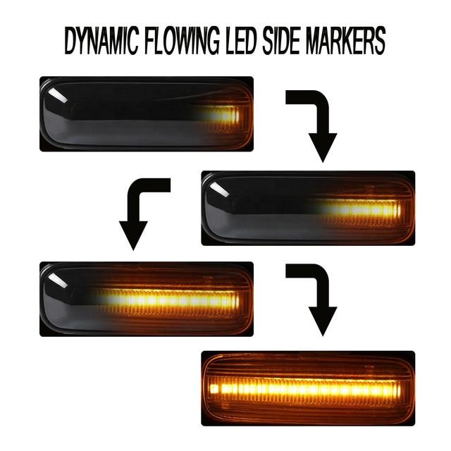 2pc LED Sequential Turn Signal Fender Marker Lights for HONDA for Civic 1996-2000 + CRV 1997-2000 1