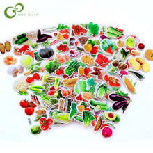 5 folhas etiqueta vegetal bonito diy adesivos dos desenhos animados crianças alimentos adesivos brinquedos pvc scrapbook presentes para crianças gyh