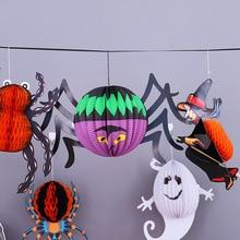 Halloween Ghost Hanging Decorative Toy Children Craft Bar Party Scene Prop Semi-manual Pendants Paper Doll  Diy Toys Kids