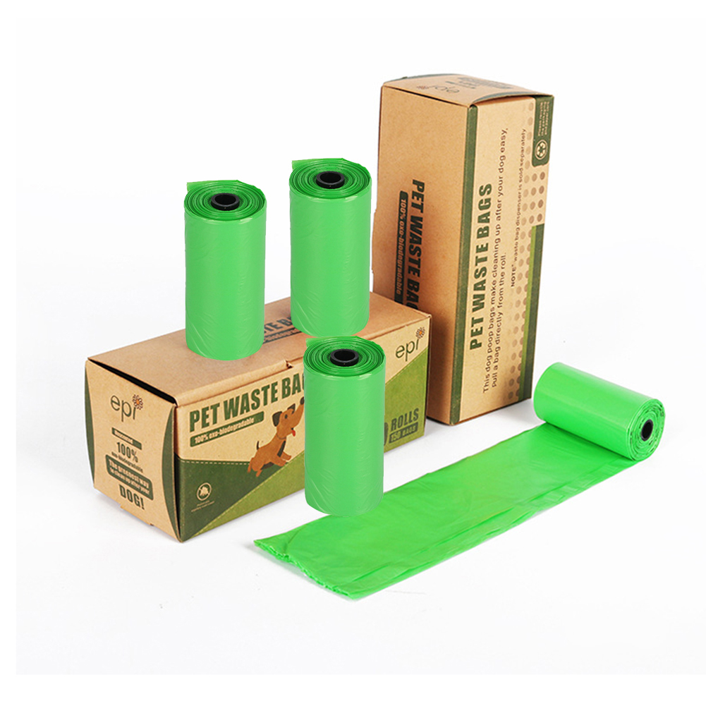 10rolls/set Environmental Pet Dog Cat Poop Garbage Bags Protection Leak-Proof Biodegradable Clean-up Waste Pick Up Clean Bag